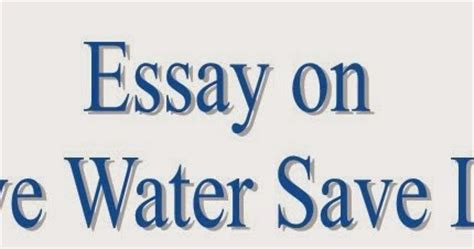 Essay on river water pollution